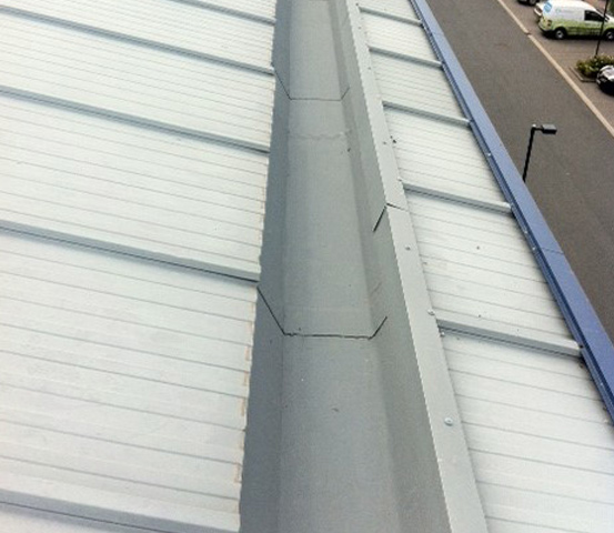 Waterproofing Commercial Properties - RESITRIX Gutter Detail
